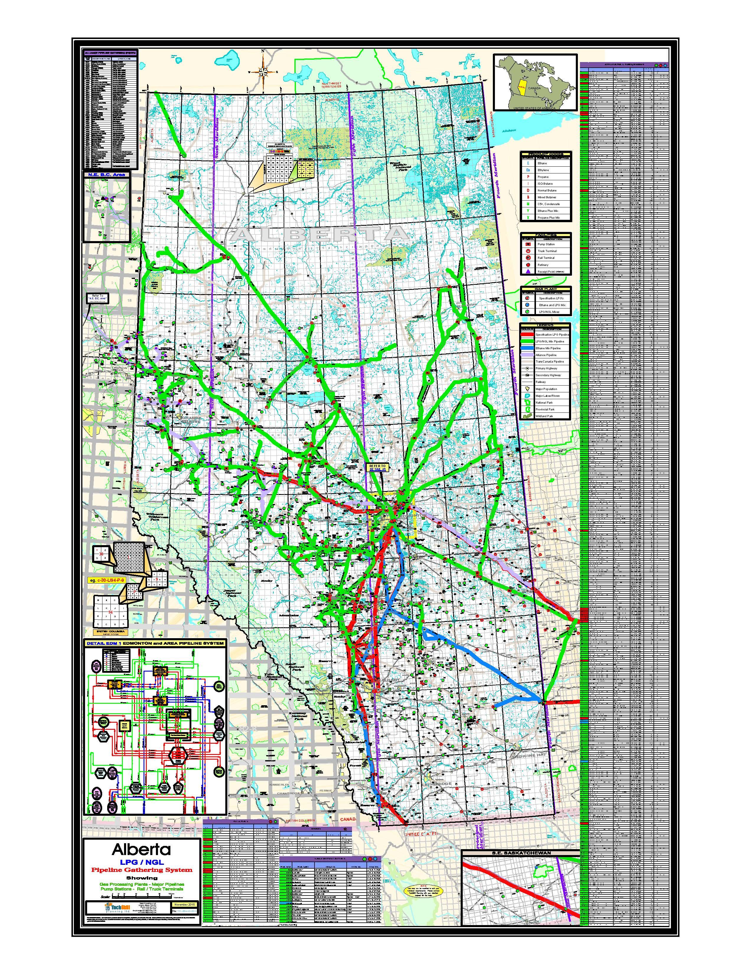 TechSkill Retail Mapping Pipeline Gathering System Alberta LPG